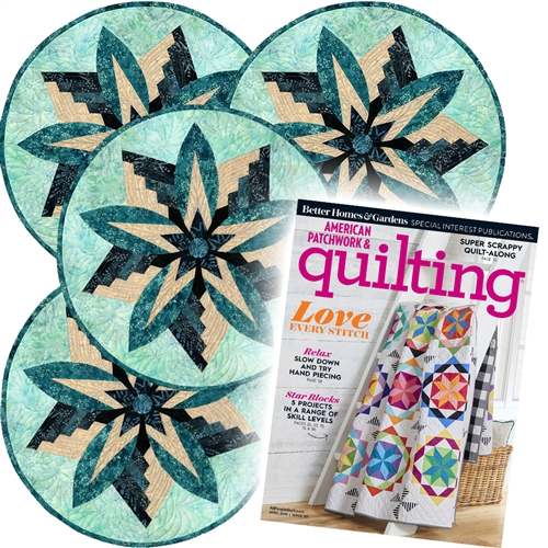 Rustic Mountain Snowflake Pattern and APQ Magazine