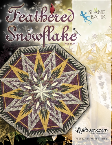 Feathered Snowflake Tree Skirt