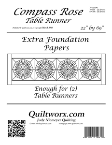 Compass Rose Table Runner Extra Foundations