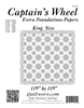 Captain's Wheel King Size Extra Foundation Papers