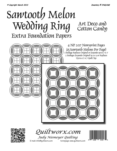 Sawtooth Melon Wedding Ring Extra Foundation Papers
