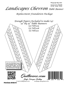 Landscapes Chevron Table Runners Replacement Foundation Papers