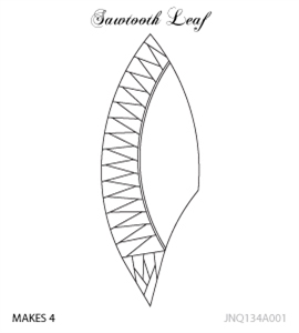 JNQ134A001 Sawtooth Leaf
