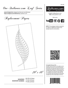 One ~ Quiltworx.com Leaf Series Replacement Papers