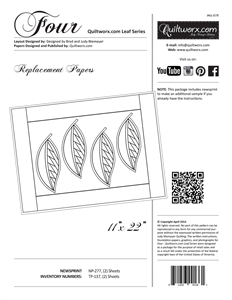 Four ~ Quiltworx.com Leaf Series Replacement Papers