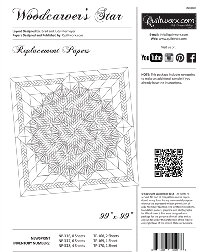 Woodcarver's Star Replacement Papers