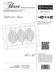 Three ~ Quiltworx.com Leaf Series Replacement Papers