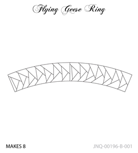 JNQ196B001 Flying Geese Ring