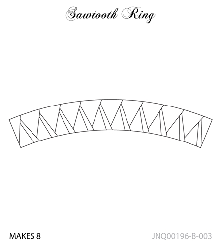 JNQ196B003 Sawtooth Ring