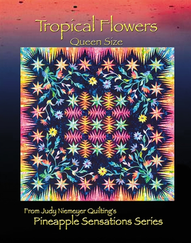 Tropical Flowers Queen Basic Pattern