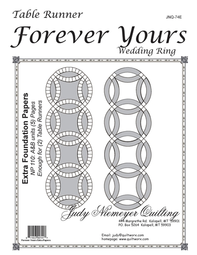 Forever Yours Table Runner Extra Foundations DISCONTINUED