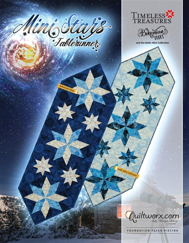 Mini Stars Table Runner Pattern