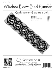 Witches Brew Bed Runner Replacement Papers
