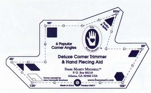 Deluxe Corner Trimmer and Hand Piecing Aid