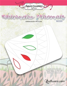 Watermelon Seeds Machine Embroidery - Digital Download