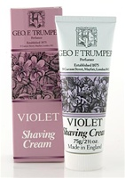 Trumper's Violet Soft Shaving Cream in Travel Size Tube 75g