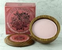 Trumper's Rose Hard Shaving Soap in Wooden Bowl 80g