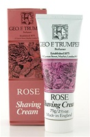 Trumper's Rose Soft Shaving Cream in Travel Size Tube 75g