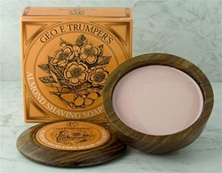 Trumper's Almond Hard Shaving Soap in Wooden Bowl 80g