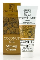 Trumper's Coconut Oil Soft Shaving Cream in Travel Size Tube 75g