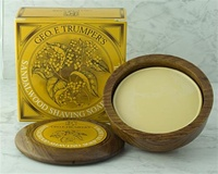 Trumper's Sandalwood Hard Shaving Soap in Wooden Bowl 80g