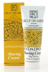 Trumper's Sandalwood Soft Shaving Cream in Travel Size Tube 75g