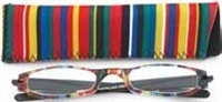Wink Expressions Half-Eye 1297 reader with Neoprene Case - Multi-Color