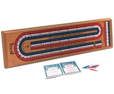 Cribbage Board with Deck of Cards