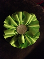 ruffled flower hair clip in a variety of colors