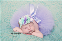 mint and lavender boutique headband