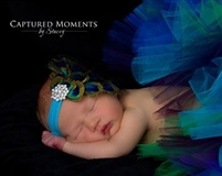 Feather peacock couture headband