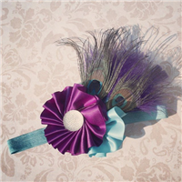 peacock couture feather headband