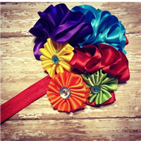 summer rainbow headband