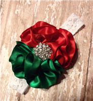red and green boutique headband