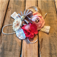 sweet pink burlap and lace headband