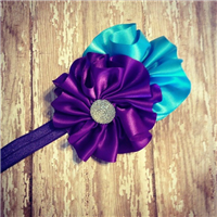 peacock couture headband