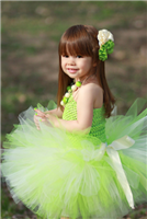 ivory and apple green tutu