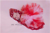 light pink and red tutu