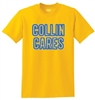 "Collin Cares Cure Cancer Adult Golden ""Neon Glow"" T-Shirt"