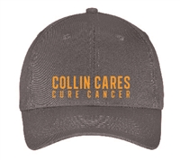 Collin Cares Cure Cancer Charcoal Cap