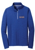 Collin Cares Cure Cancer Adult Mens Royal Textured 1/4 Zip