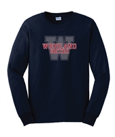 R. Woodland HS Soccer Navy Long Sleeve T-Shirt