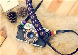 iMo Exotic Navy  Leather Strap for film camera/ Mirrorless camera