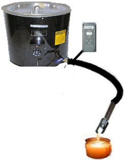 Gravity Candle Wax Pouring System For Fast Candle Making