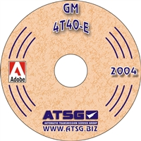 ATSG Rebuild Manual on CDROM for Chevy/GM 4T40E Transaxle