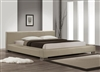 2225-Q-GRY Bali Queen Size Bed,  Warm Gray