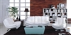 3850-3SET-WHT Gramercy 3 Piece Sofa Set