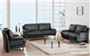 Contemporary Black Living Room Sofa Set 9250N-BL