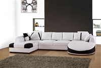 Ultra Contemporary Leather Sectional Sofa CP-2210 Sole