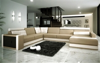 Modern Italian Bonded Leather Sectional Sofa CP-3001